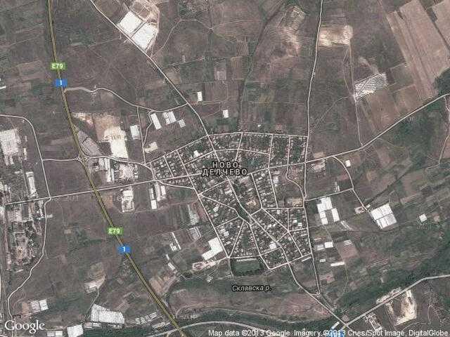 Сателитна карта на Ново Делчево