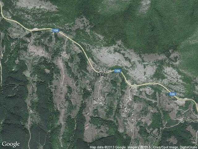 Сателитна карта на Обел