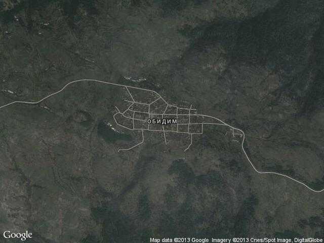 Сателитна карта на Обидим