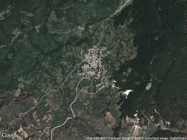 Сателитна карта на Ореше