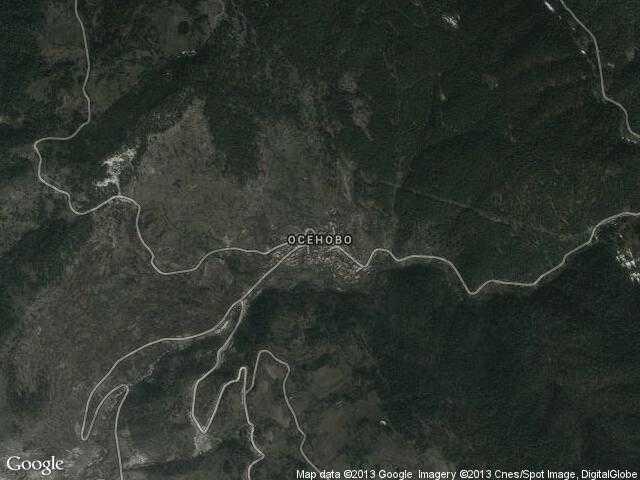 Сателитна карта на Осеново