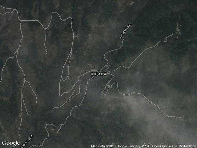 Сателитна карта на Ощава