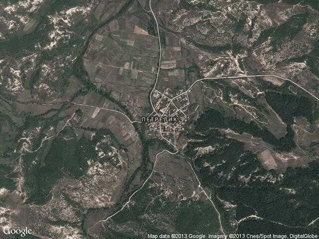 Сателитна карта на Петрелик