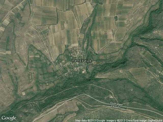 Сателитна карта на Пиперица
