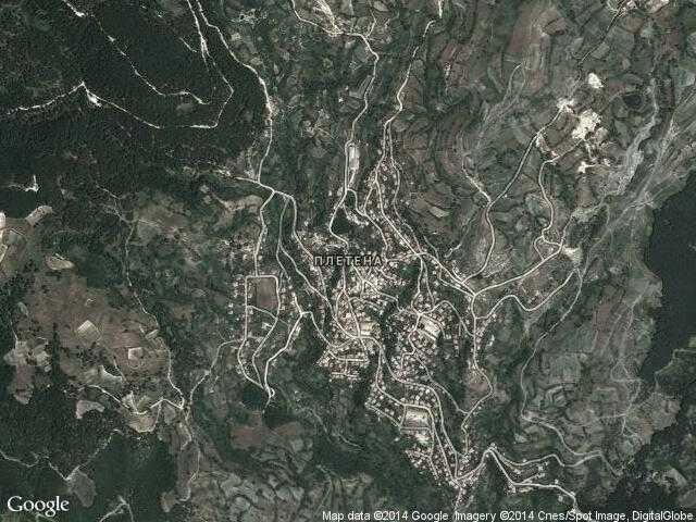 Сателитна карта на Плетена