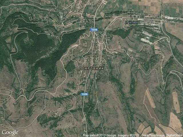 Сателитна карта на Покровник