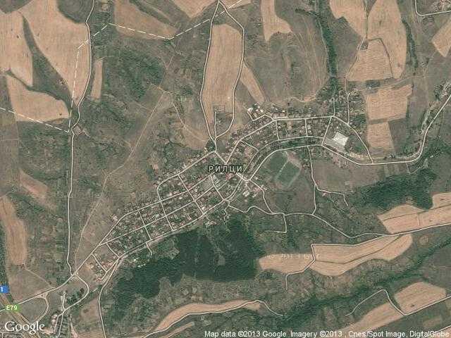 Сателитна карта на Рилци