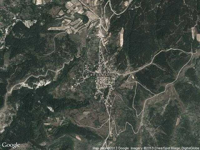 Сателитна карта на Скребатно