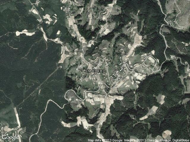 Сателитна карта на Смолево