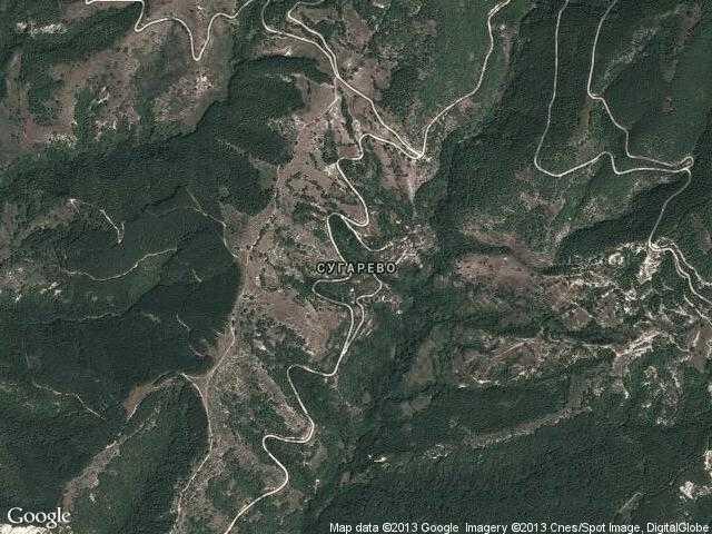 Сателитна карта на Сугарево