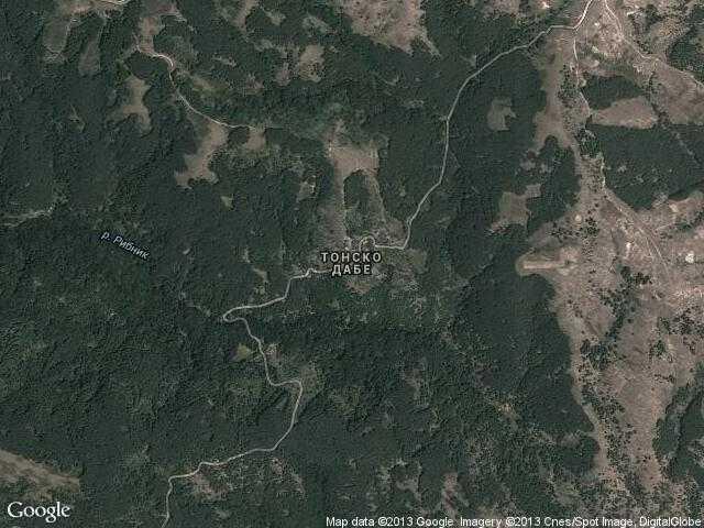 Сателитна карта на Тонско дабе
