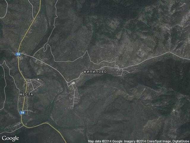 Сателитна карта на Филипово
