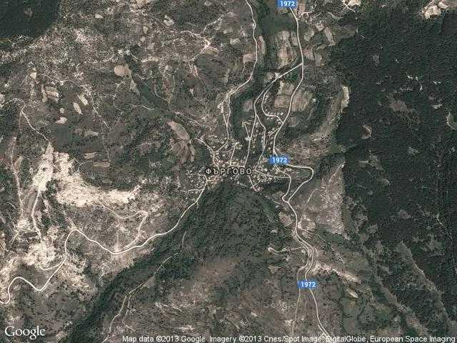 Сателитна карта на Фъргово