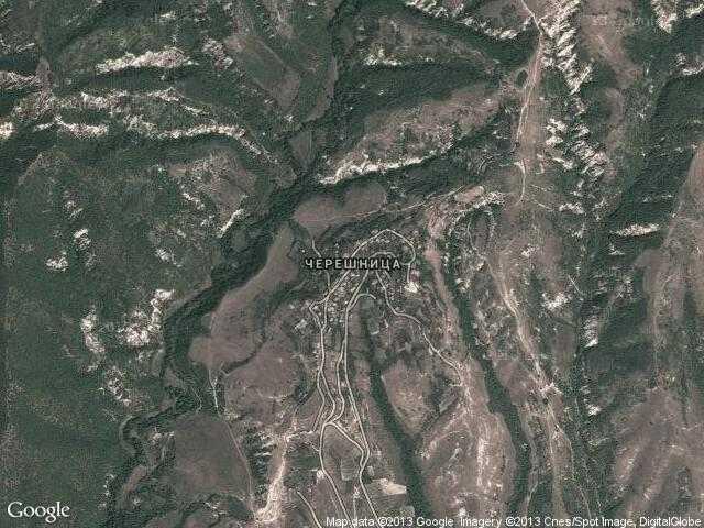 Сателитна карта на Черешница