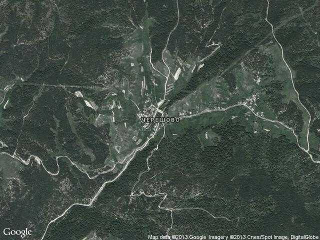Сателитна карта на Черешово