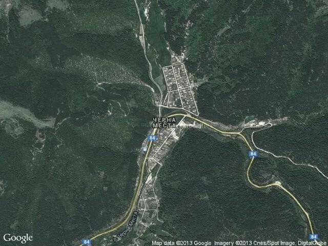 Сателитна карта на Черна Места