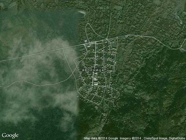 Сателитна карта на Яворница