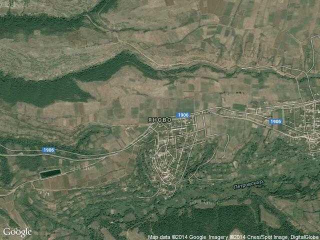 Сателитна карта на Яново