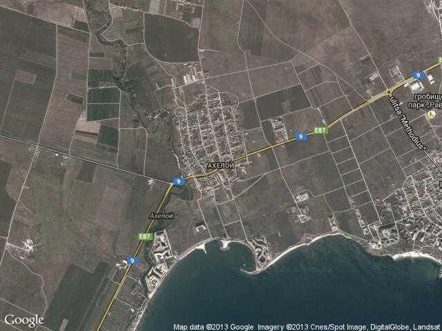 Сателитна карта на Ахелой