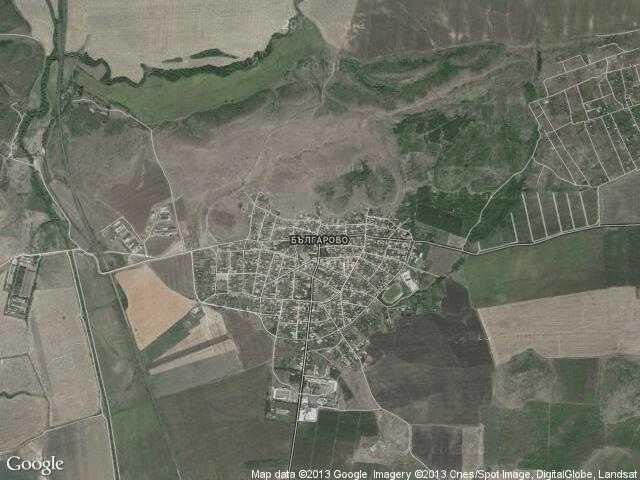 Сателитна карта на Българово
