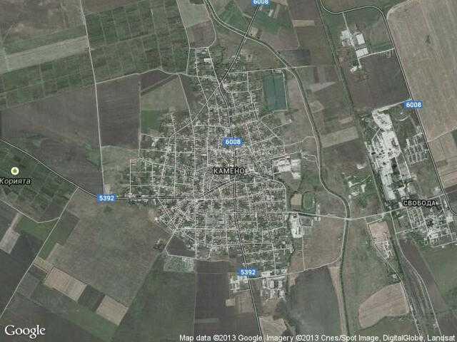 Сателитна карта на Камено