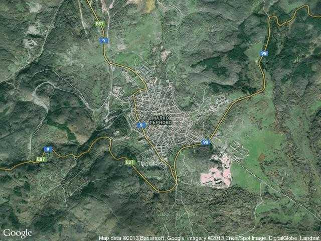 Сателитна карта на Малко Търново