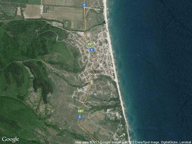 Сателитна карта на Обзор