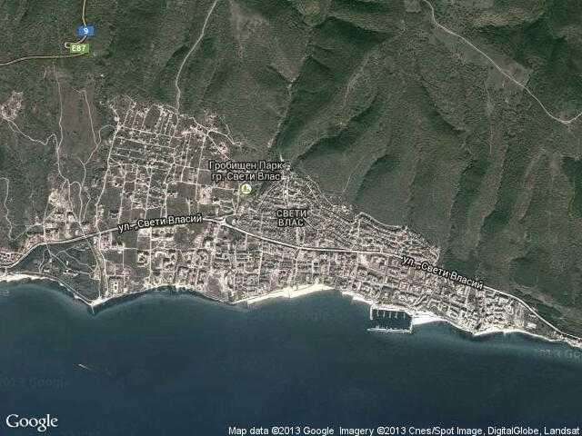 Сателитна карта на Свети Влас