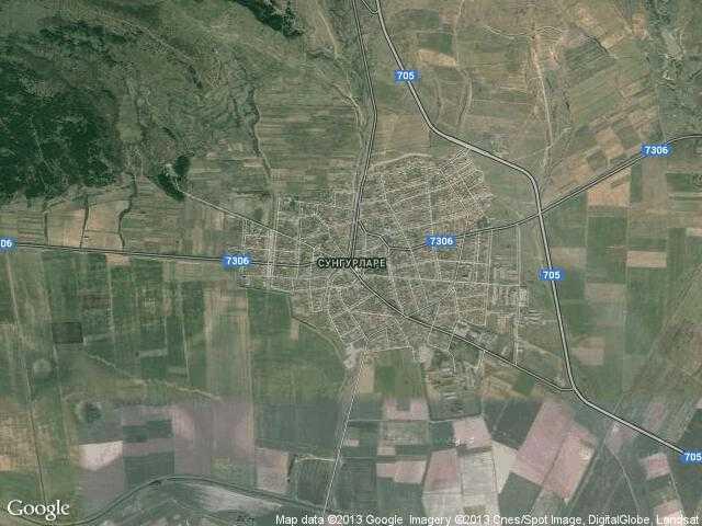 Сателитна карта на Сунгурларе