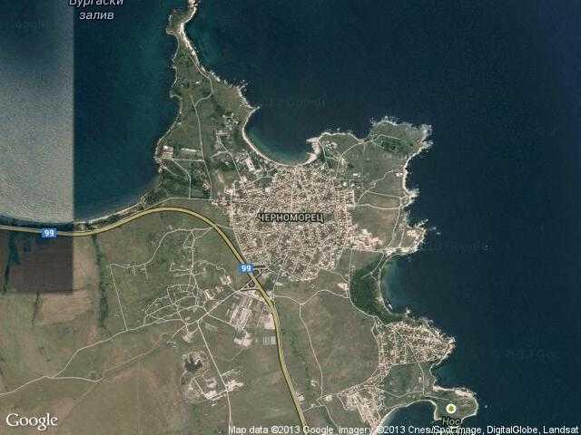 Сателитна карта на Черноморец