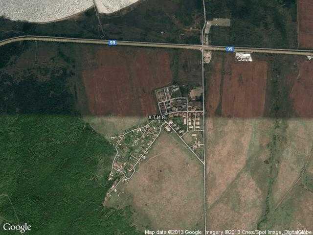 Сателитна карта на Атия