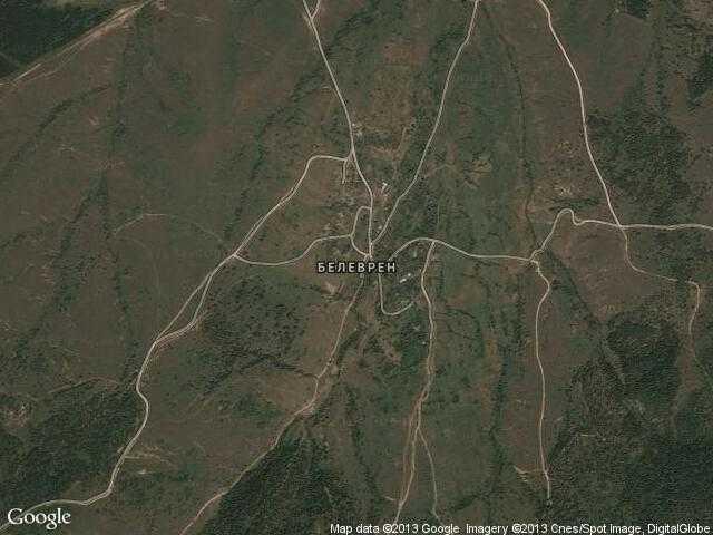 Сателитна карта на Белеврен