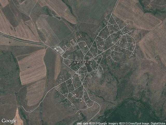 Сателитна карта на Бистрец