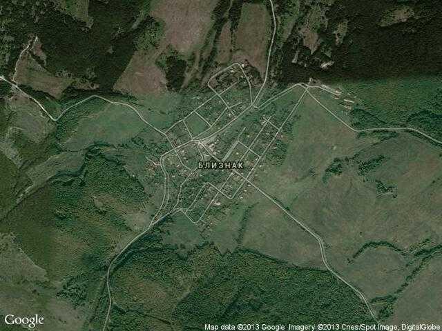Сателитна карта на Близнак