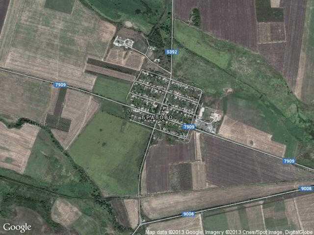 Сателитна карта на Братово