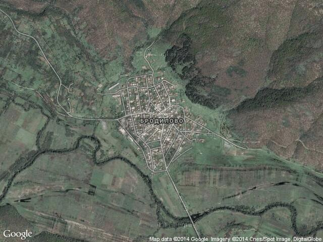 Сателитна карта на Бродилово