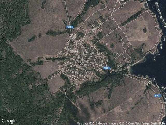 Сателитна карта на Варвара