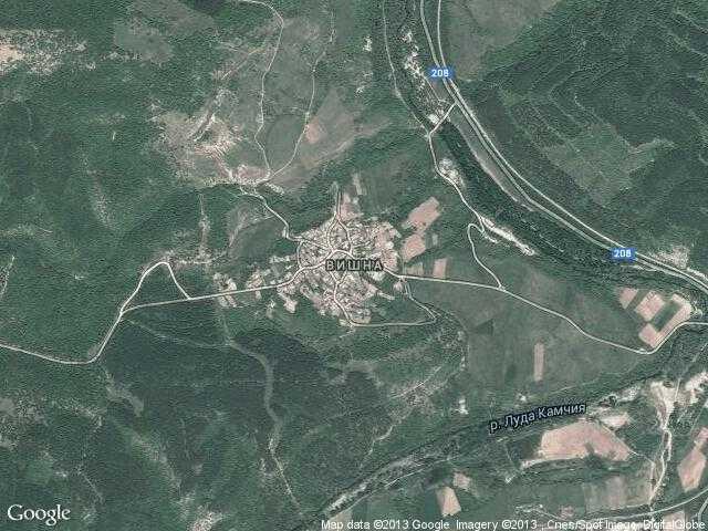Сателитна карта на Вишна