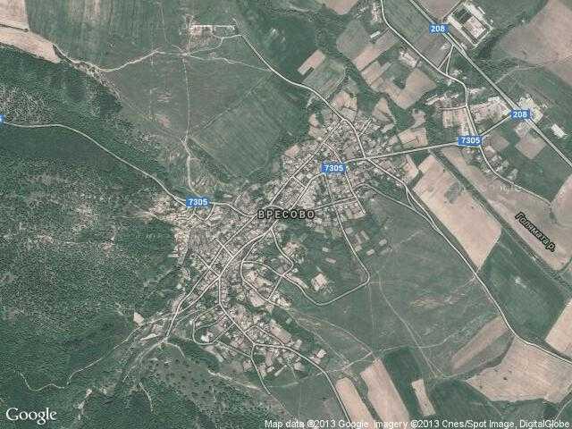 Сателитна карта на Вресово