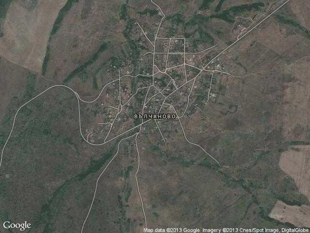 Сателитна карта на Вълчаново