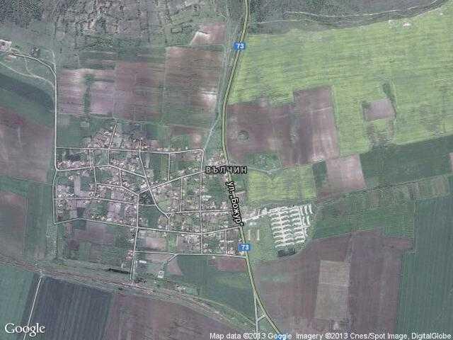 Сателитна карта на Вълчин