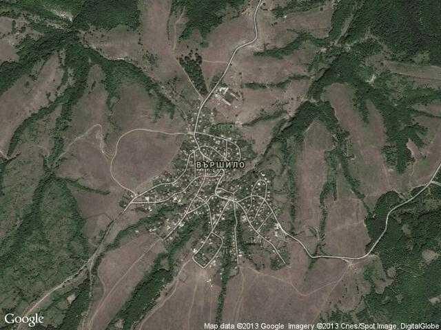 Сателитна карта на Вършило