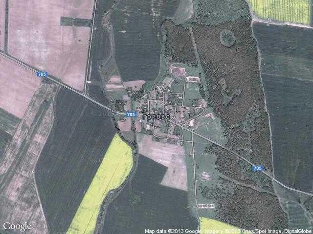 Сателитна карта на Горово