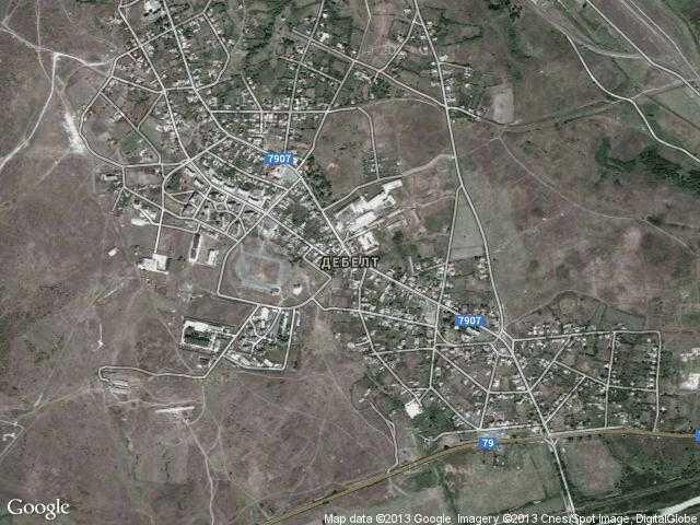 Сателитна карта на Дебелт
