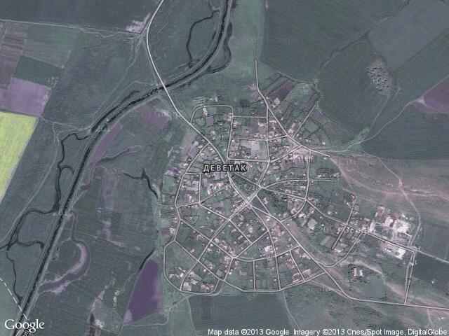 Сателитна карта на Деветак