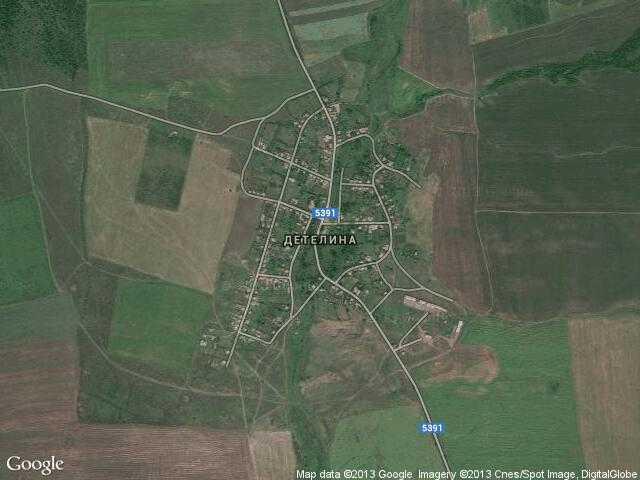 Сателитна карта на Детелина