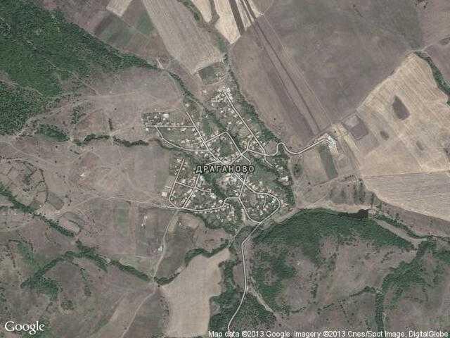 Сателитна карта на Драганово