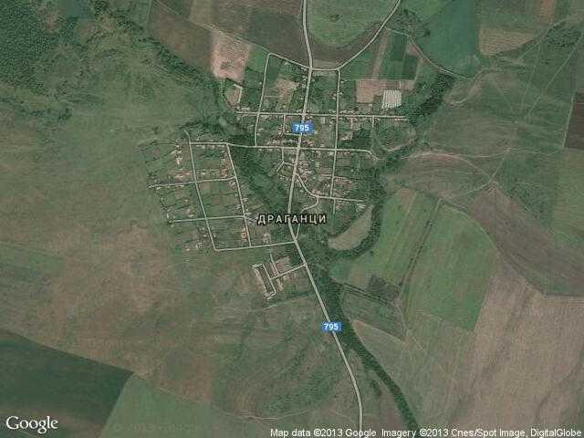 Сателитна карта на Драганци