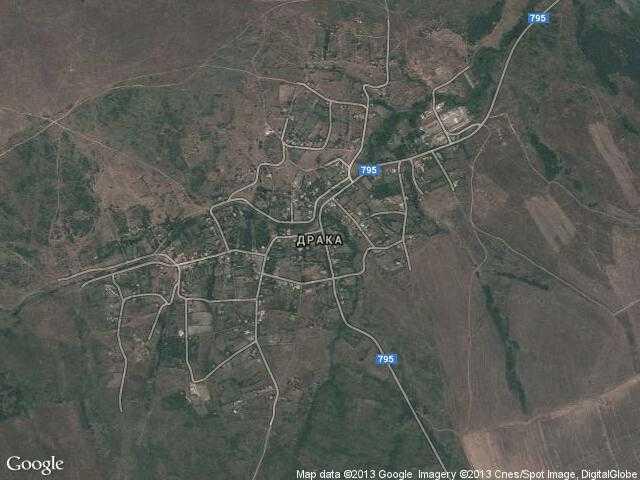 Сателитна карта на Драка