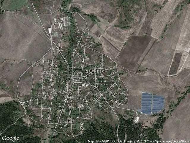 Сателитна карта на Драчево